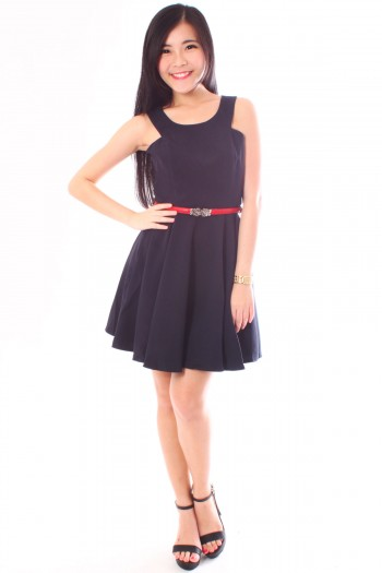 Cut-In Skater Dress