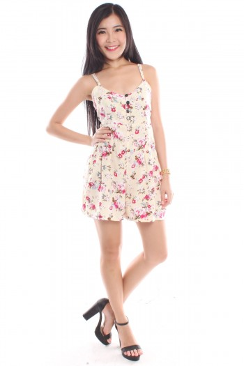 Floral Button Playsuit