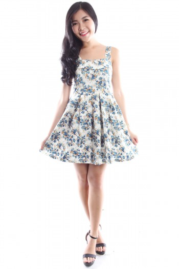 Floral Sweetheart Skater Dress