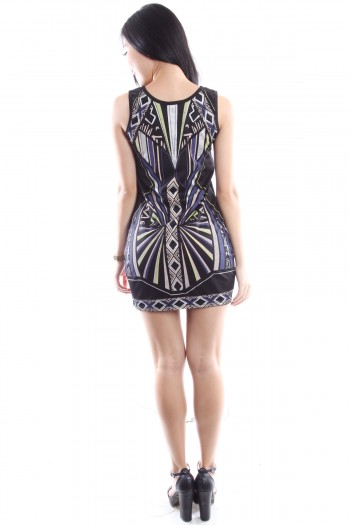 2-Way Printed Bodycon Dress