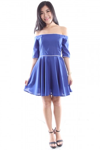 Drop Shoulder Skater Dress