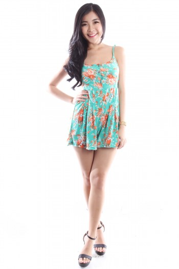 Floral Button Romper