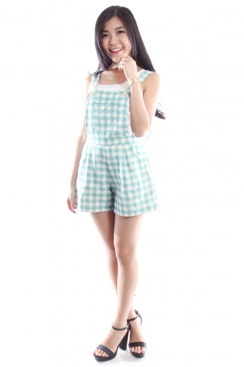 Checkered Overalls