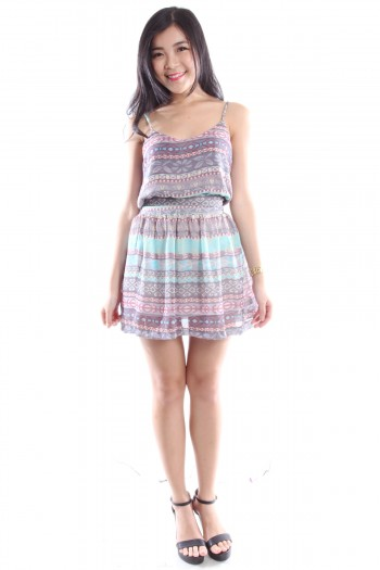 2-Pc Tribal Print Dress