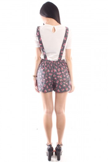 Floral Dungaree Playsuit