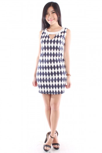 Cut-Out Geometric Dress