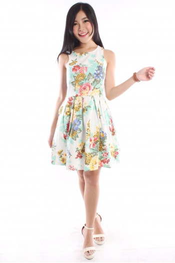 Cut-In Floral Dress