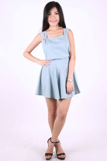 2-Piece Denim Dress