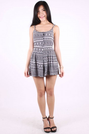 Tribal Button Romper