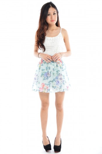 Floral Zip Skirt (BO)