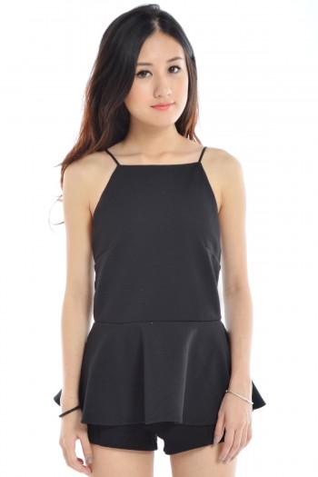 Cut-In Peplum Top