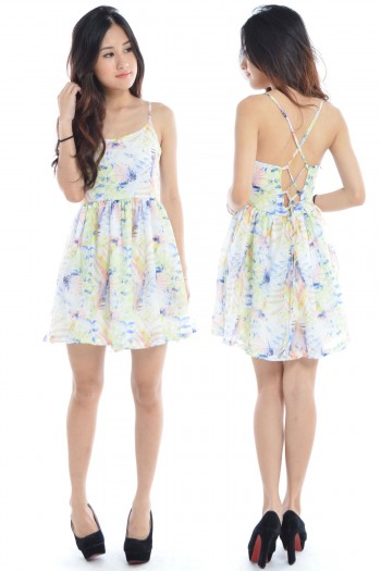 Criss-Cross Tropical Back Dress