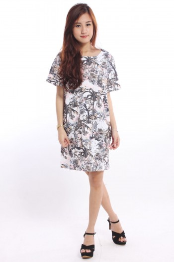 Boxy Tropic Shift Dress