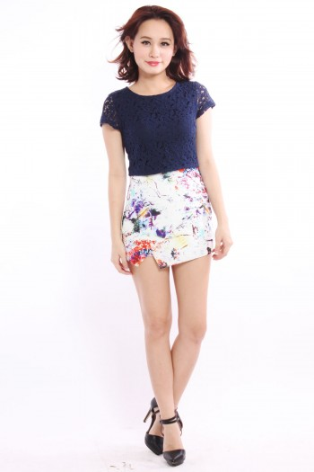 *Premium* Colourburst Slit Skorts
