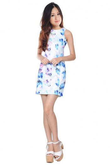 Abstract Watercolour Bodycon Dress