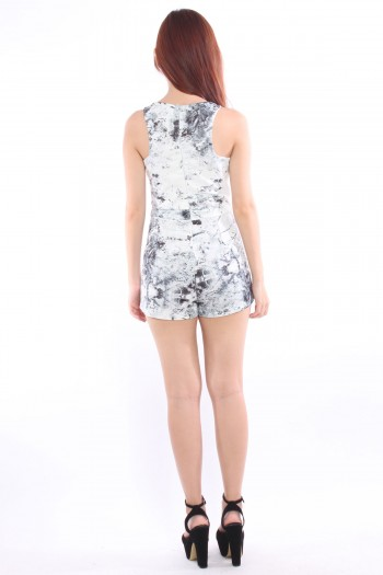 Kaleidoscope Abstract Wrap Playsuit