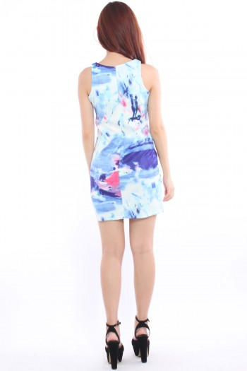 Watercolour Paint Splatter Shift Dress