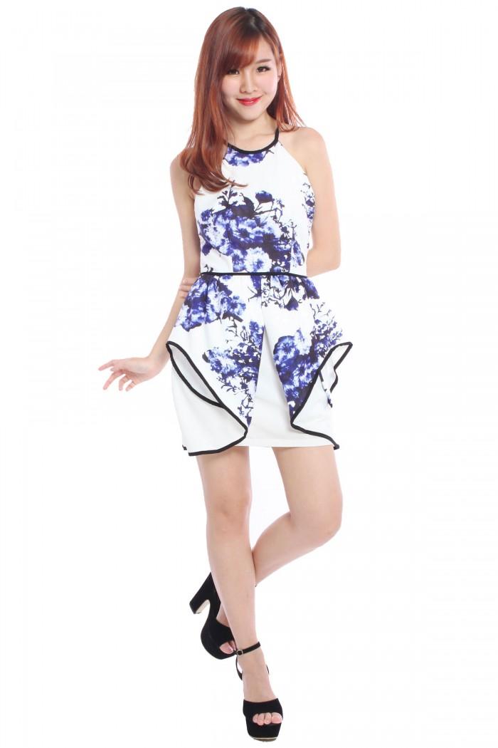 Design: Floral print, short sleeves, ankle length, wrap waist, wrap maxi Dress Miusol Women's Retro Floral Lace 2/3 Sleeve Slim Peplum Wedding Maxi Dress by Miusol.