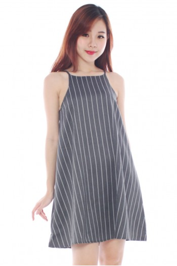 *Premium* Pinstripe Trapeze Dress