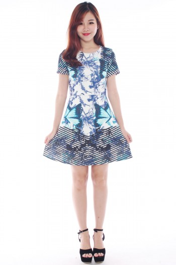 *Premium* Abstract Garden Digital Print Dress