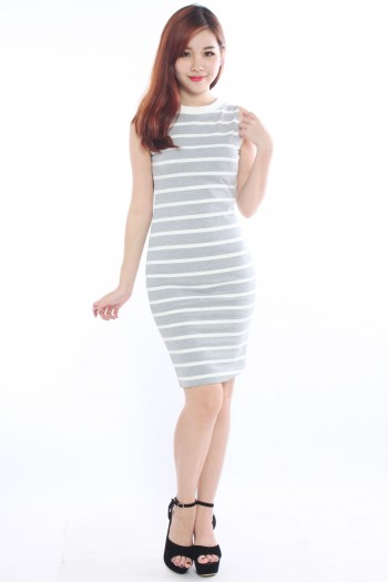 Sporty Stripe Midi Dress