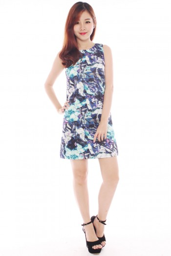 *Premium* Abstract Shift Dress