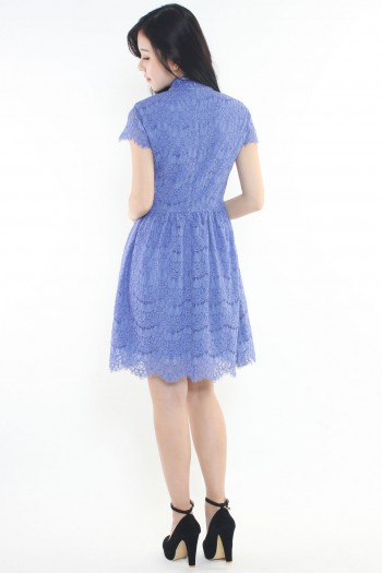 *Premium* Lace Keyhole Cheongsam Dress