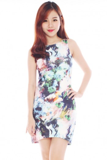 *Premium* Abstract Print Bodycon Dress