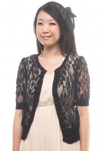 Lace Short Sleeved Cardigan