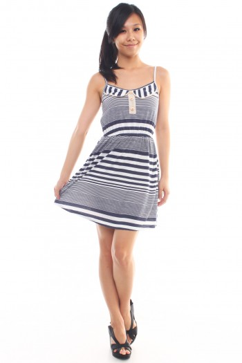 Peter Pan Collar Striped Dress