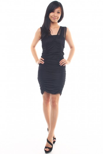 Mesh Runched Dress