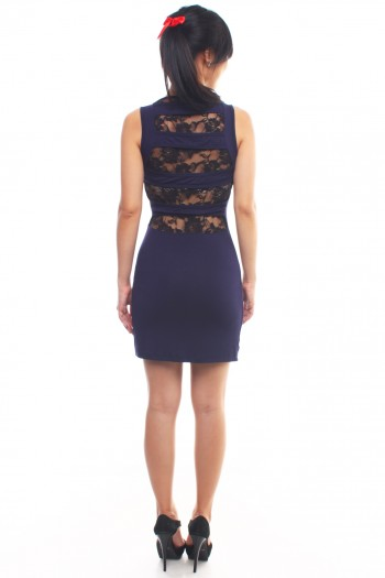 Lace Panel Back Dress