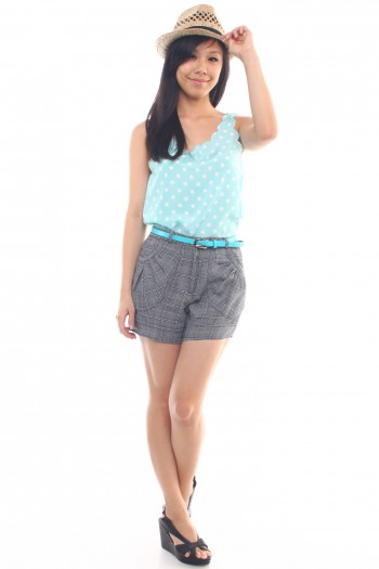 Scallop Trim Polka dot tank