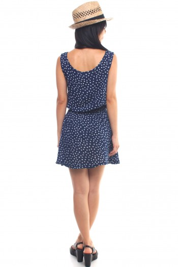 Polkadot Bow Bib Dress