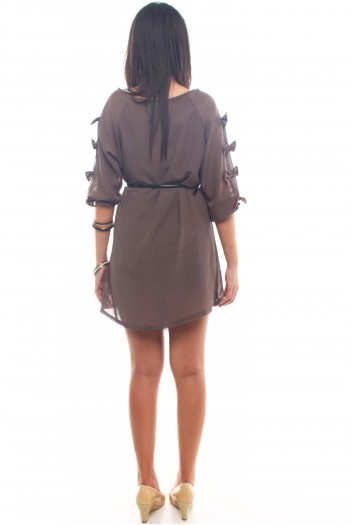 Bow Sleeves Dress