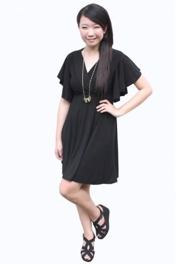 V-neck Fluttersleeve Dress