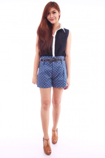 Polkadot High Waist Shorts
