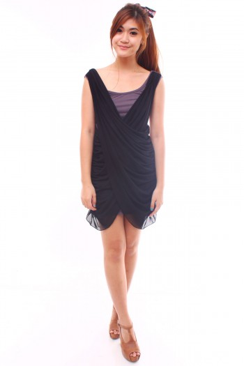 Criss-Cross Drape Dress