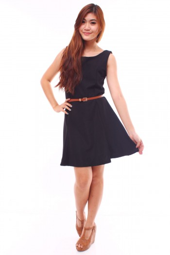 Reversible Button Skater Dress