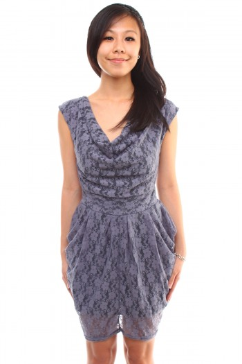 Lace Scoop Neck Dress