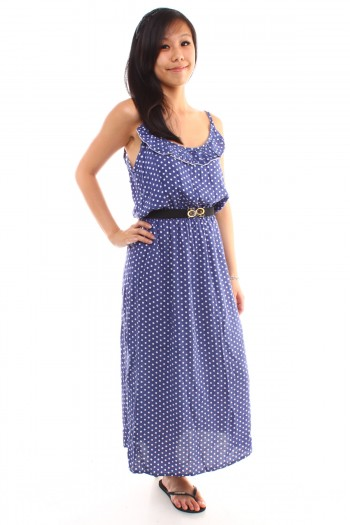 Polkadot Maxi Dress