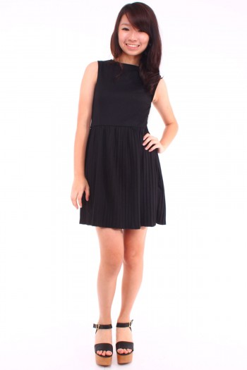 Reversible Cut-Out Skater Dress