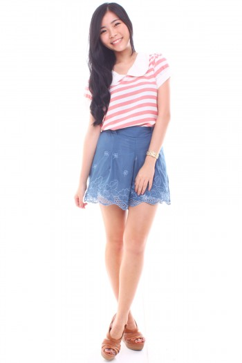 Peterpan Stripe Top