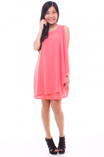 Drape Shift Dress