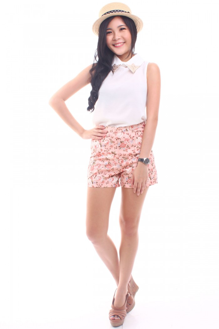 Floral high waist shorts the label junkie