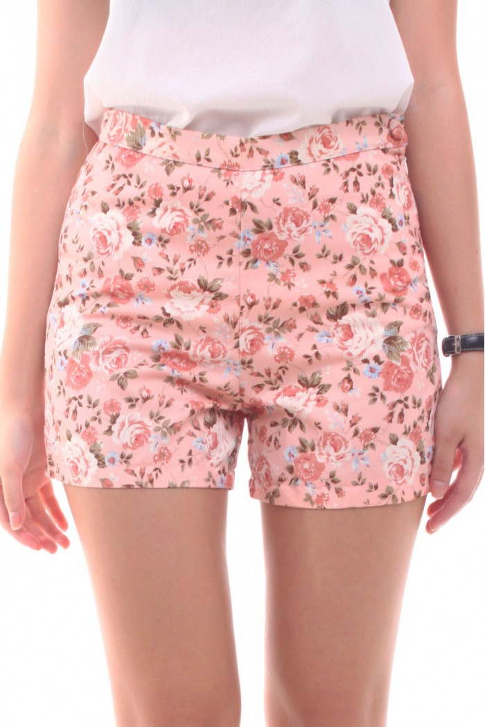 Floral High Waisted Shorts - The Else