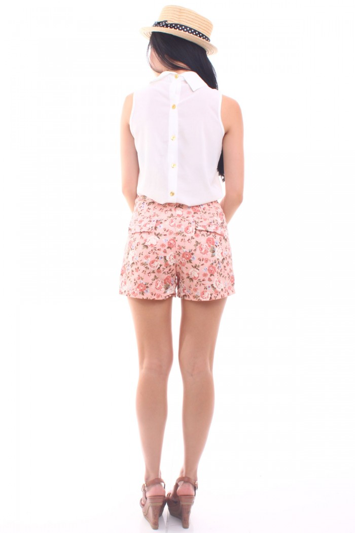 Floral High Waist Shorts - The Label Junkie