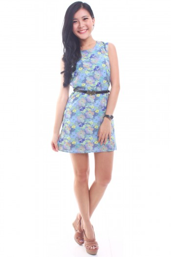 Watercolour Floral Shift Dress