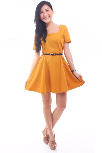 Square Neck Skater Dress