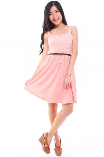 Sweetheart Eyelet Dress